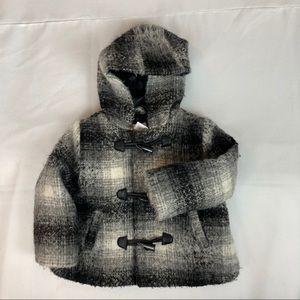 JOE FRESH Baby Girls Plaid Toggle Jacket